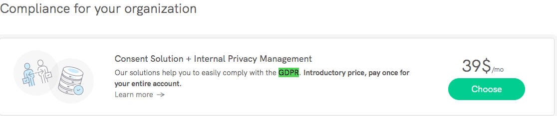 Iubenda GDPR Compliance Pricing