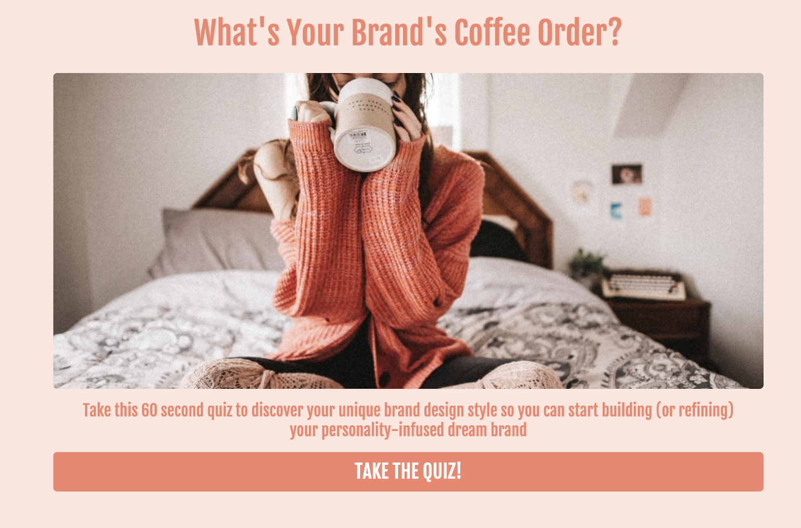 what's your brand coffee order quiz cover