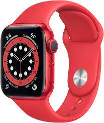 Amazon.com: Apple Watch Series 6 (GPS, 40mm) - (Product) RED - Aluminum  Case with (Product) RED - Sport Band : Electronics