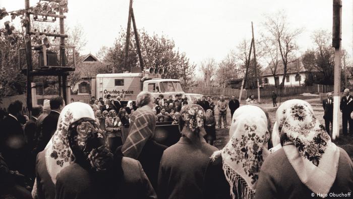 Дискомобиль на празднике в украинской деревне