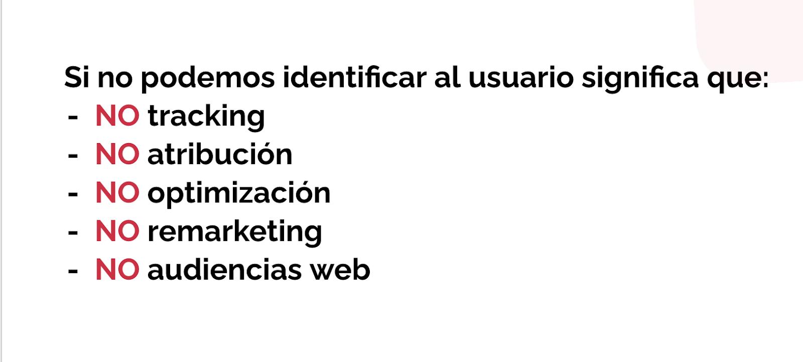 identificación usuario