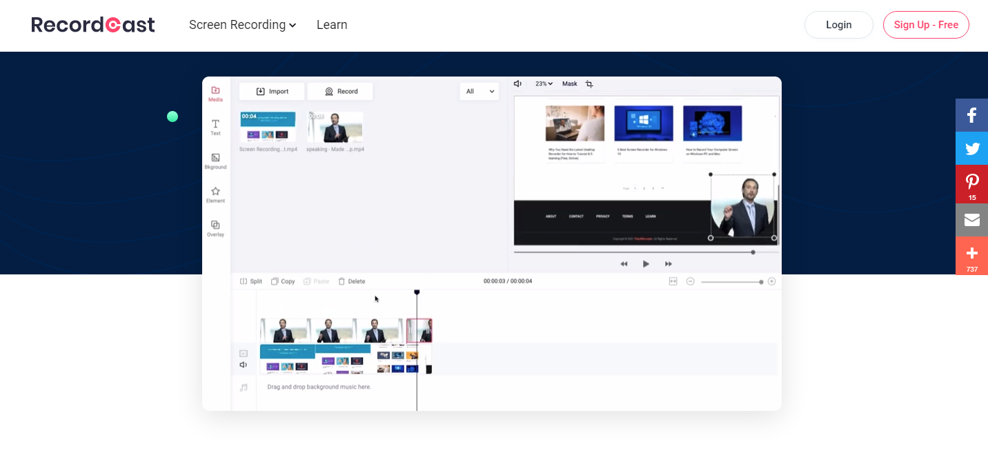 RecordCast Review - Software Dashboard
