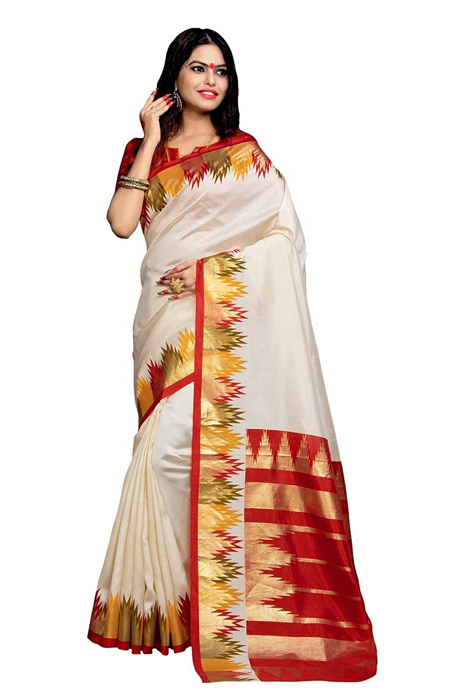 Women's Bhagalpuri Silk & Cotton Saree