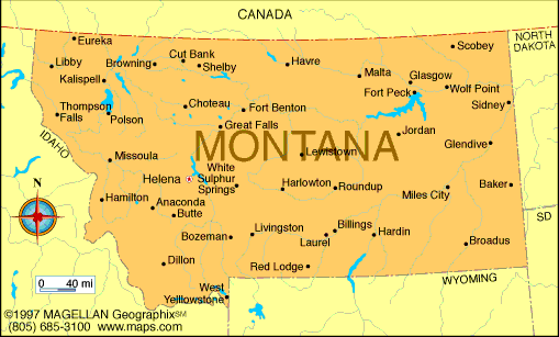 Maps   Hannah Moroz's Montana State Page