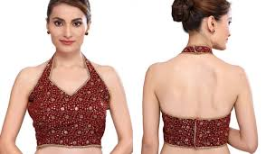 Halter Neck Blouse design
