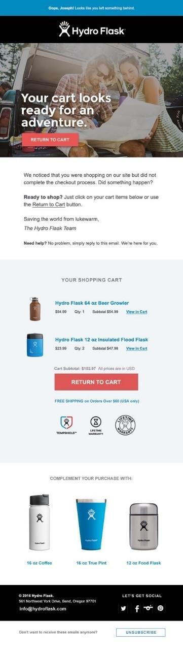 Abandoned Cart Email: What Is It and How to Retarget Shoppers? 3