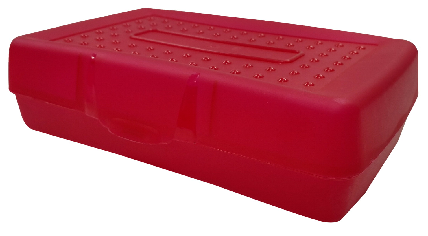 School Smart Plastic Pencil Box, Red Tint - SCHOOL SPECIALTY MARKETPLACE