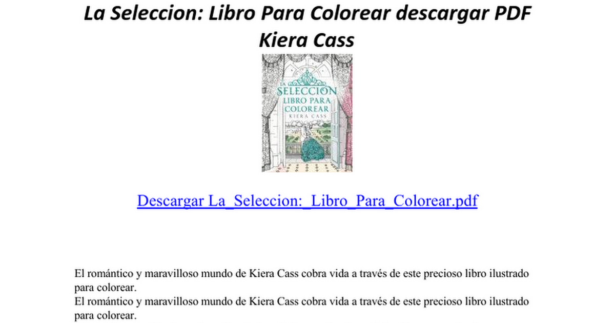 La Seleccion Libro Para Colorear - Google Docs