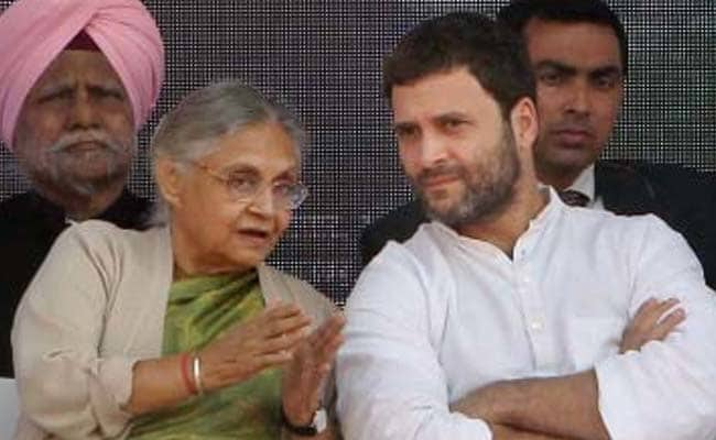 Image result for sheila dikshit with rahul gandhi