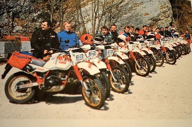 Erste TOC Ausfahrt in den Jura 1983.