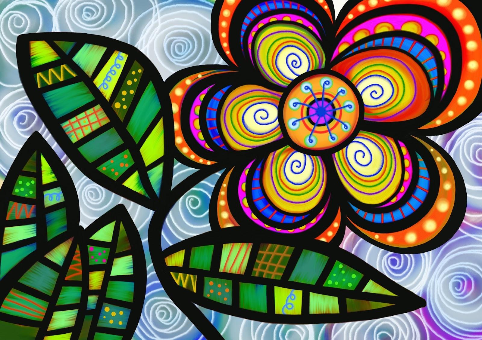 ... Folk Art Flower ...