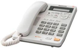 Panasonic - jednolinkový tel., displej, digit. záznam, barva bíla