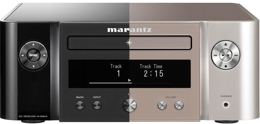 Deux finitions existent pour le Marantz M-CR612 : noir et silver-gold