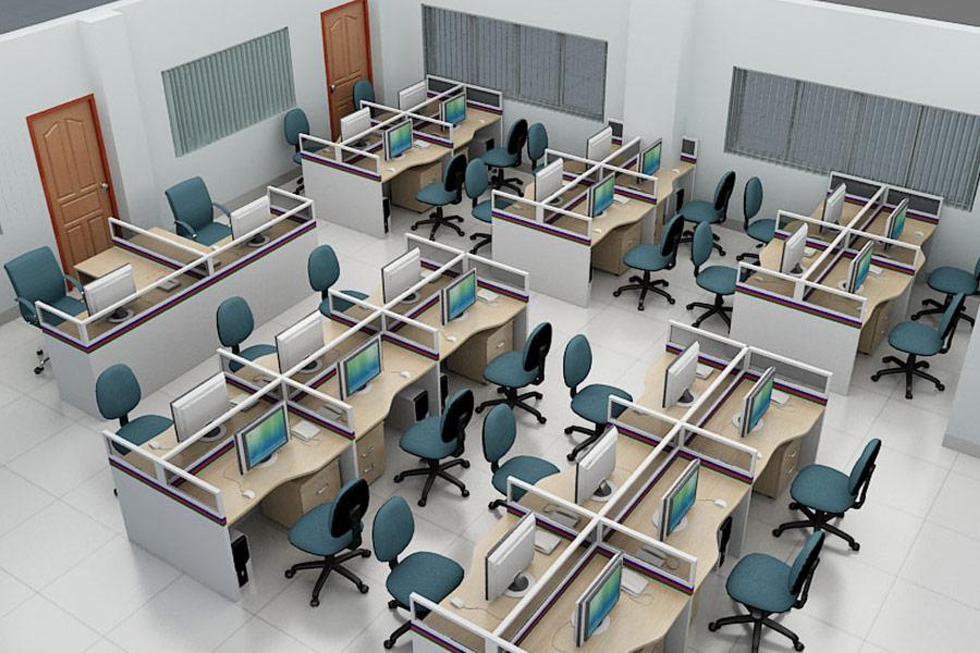 Vì sao nên chọn bàn làm việc có vách ngăn trong văn phòng làm việc