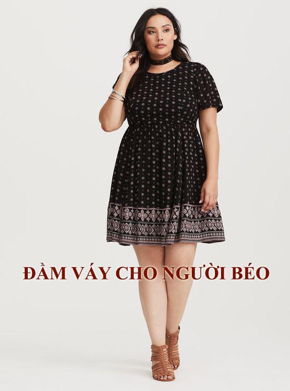 Đầm- váy cho người béo kiểu chữ A