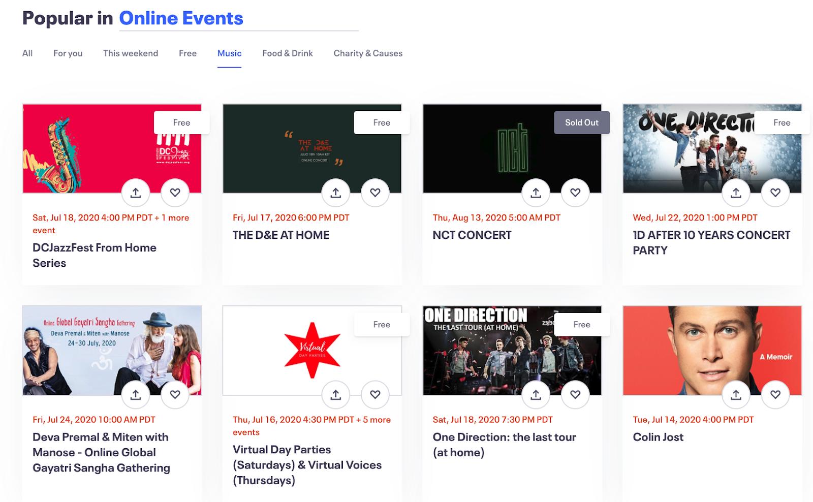 promote livestreams eventbrite