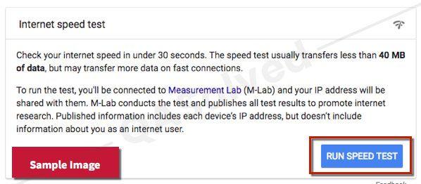 internet speed test in quicken