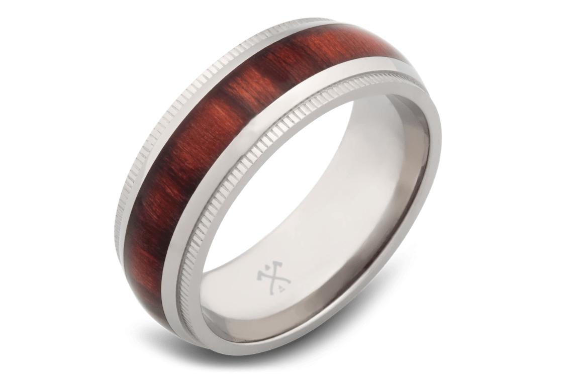 titanium wedding band for men