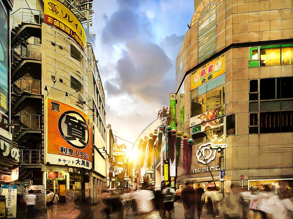 Center Gai in Shibuya, Tokyo, Japan