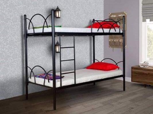 FurnitureCraft Metallika Milan Single Size Metal Bunk Bed