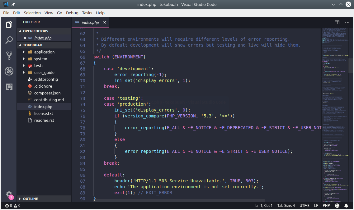 Membuka Codeigniter pada teks editor