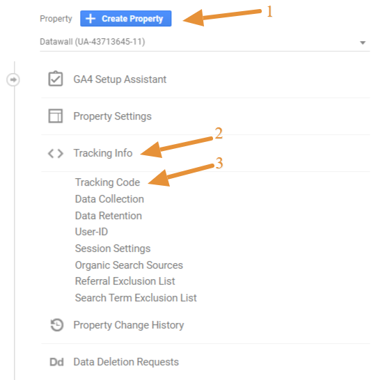 how to set up Google Analytics property tracking ID on your YouTube channel