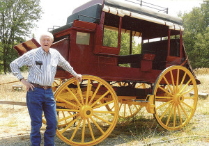 Zane and two buddies built this stagecoach