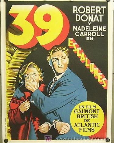 Treinta y nueve escalones (1935, Alfred Hitchcock)
