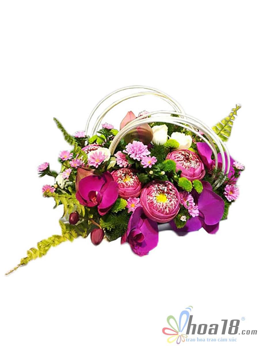 hoa để bàn văn phòng