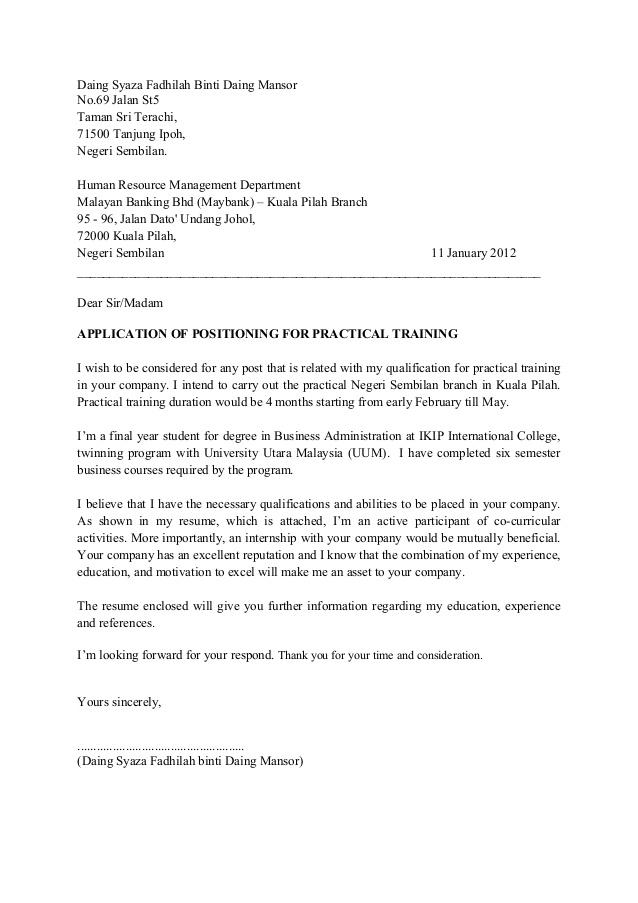 Ingin Bekerja Dengan Maybank? Ikut Contoh Cover Letter