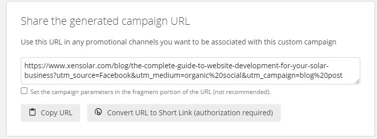 UTM Parameters URL