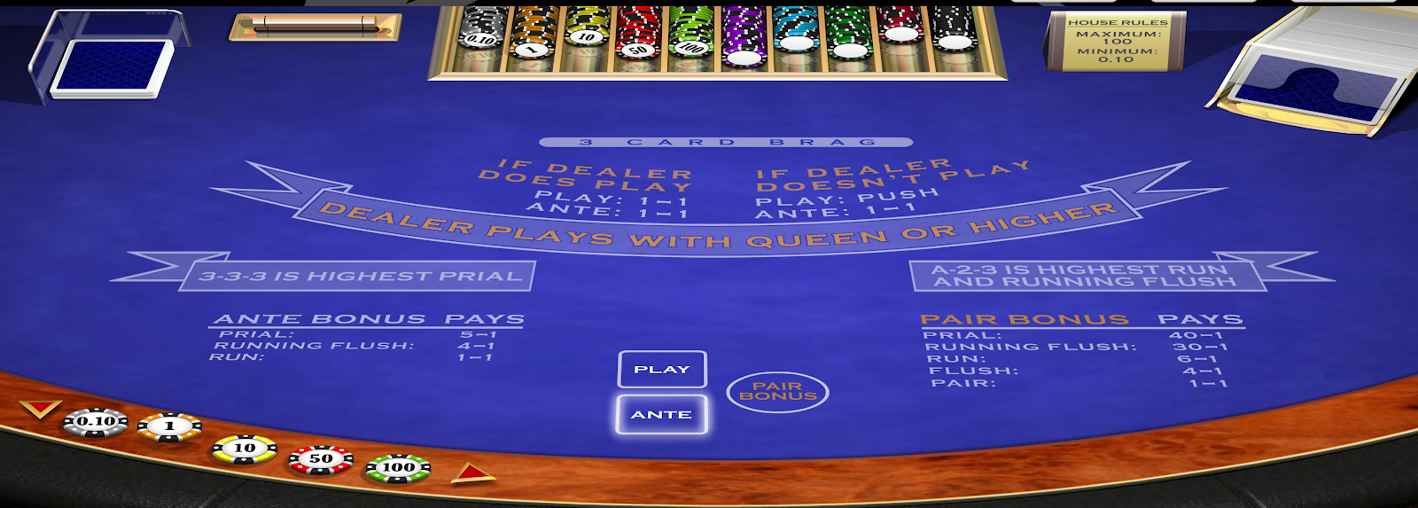 3 Card Brag is one of the best poker games you can play at Grosvenor Casinos