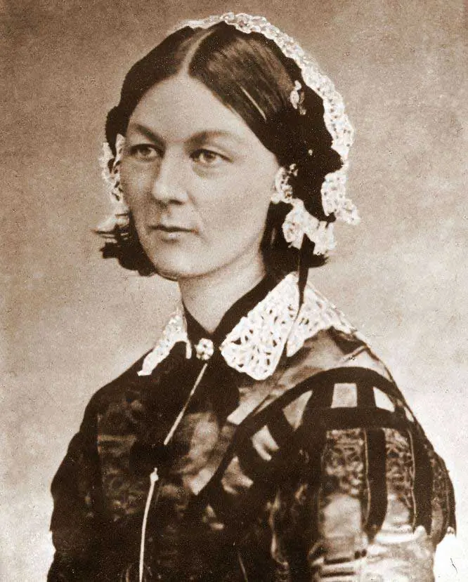 nurse wearing old uniform in ancient times