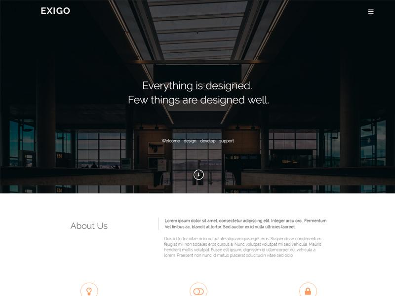 Free Creative HTML5 One-Page Bootstrap Template - Exigo