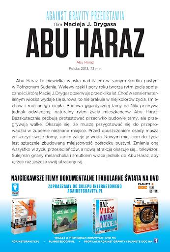 Tył ulotki filmu 'Abu Haraz'