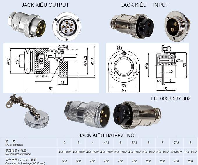 Jack cắm điện, ổ cắm điện, phích cắm điện, giắc cắm điện kiểu 30M