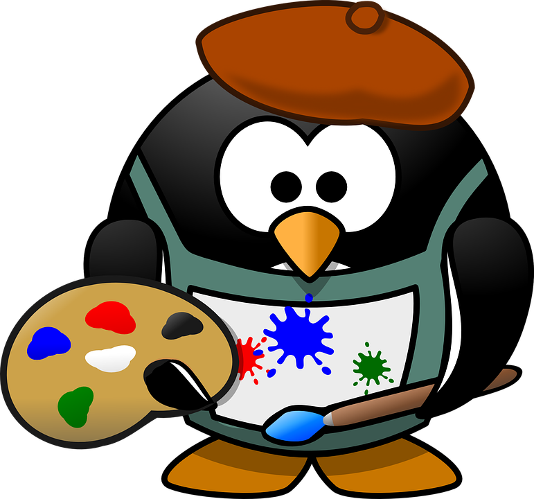 Painter, Tux, Art, Artist, ...