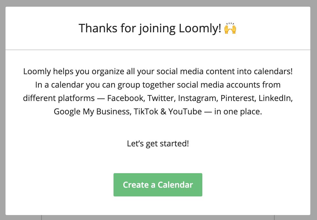 Joining Loomly to create a social media calendar