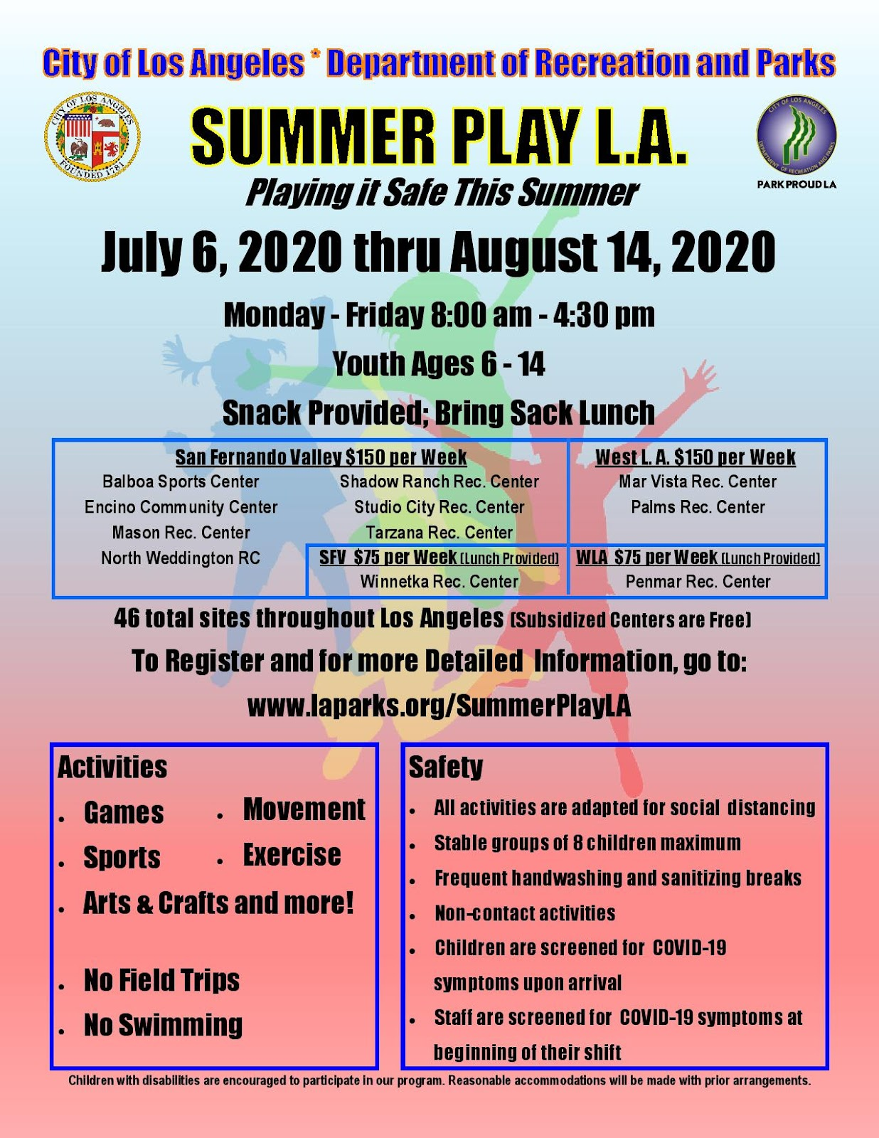 LA Rec and Park Summer Play Program