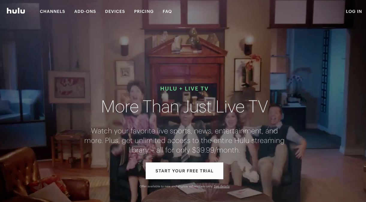 best streaming services live tv hulu live youtube tv directv now
