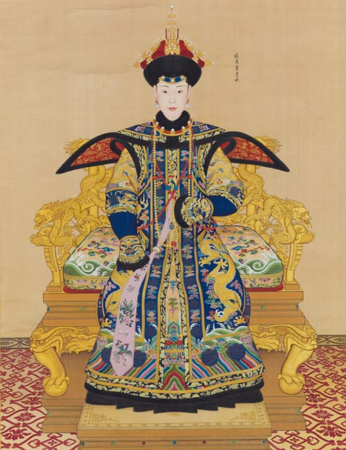 A Large Imperial Portrait of Consort Chunhui by Giuseppe Castiglione, image from Sotheby's.