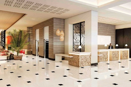 Gạch ốp cũng được sử dụng ở các khách sạn