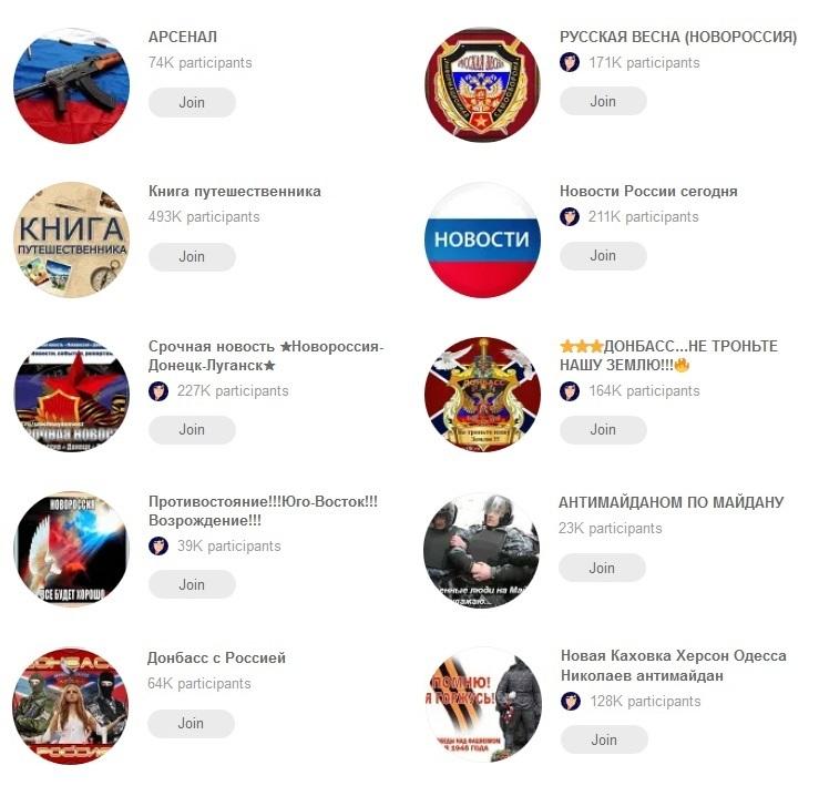 Некоторые сообщества, в которые подписан аккаунт Игоря Запалуха в социальной сети Одноклассники