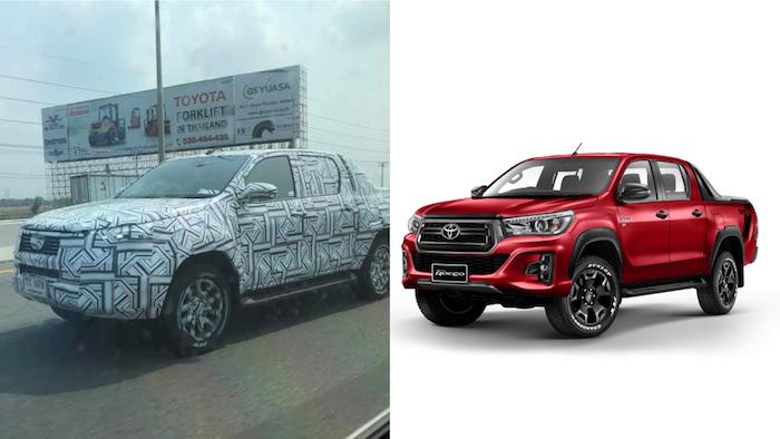 ภาพเทียบทั้งคันระหว่าง Toyota Hilux Revo Rocco