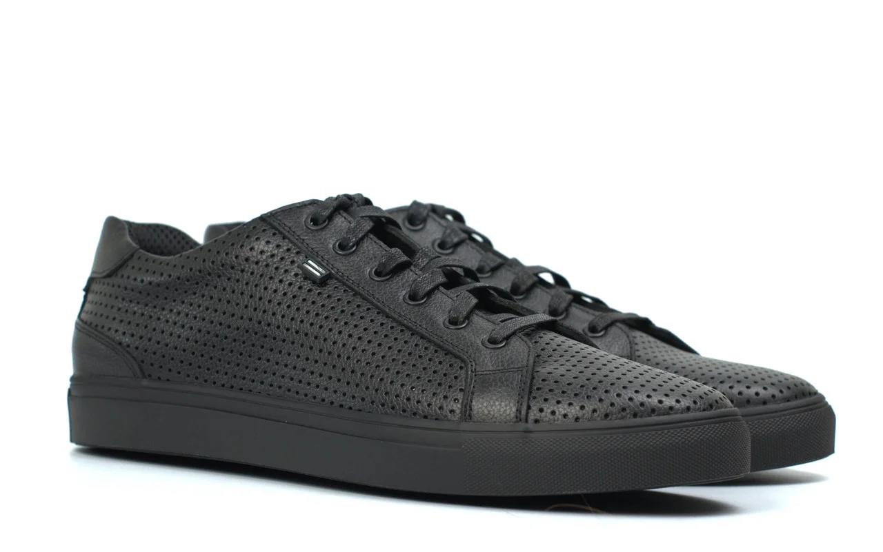 Мужские летние кроссовки черные кожаные кеды обувь больших размеров Rosso Avangard Pura Black PerfLeath TPR BS Подробнее: