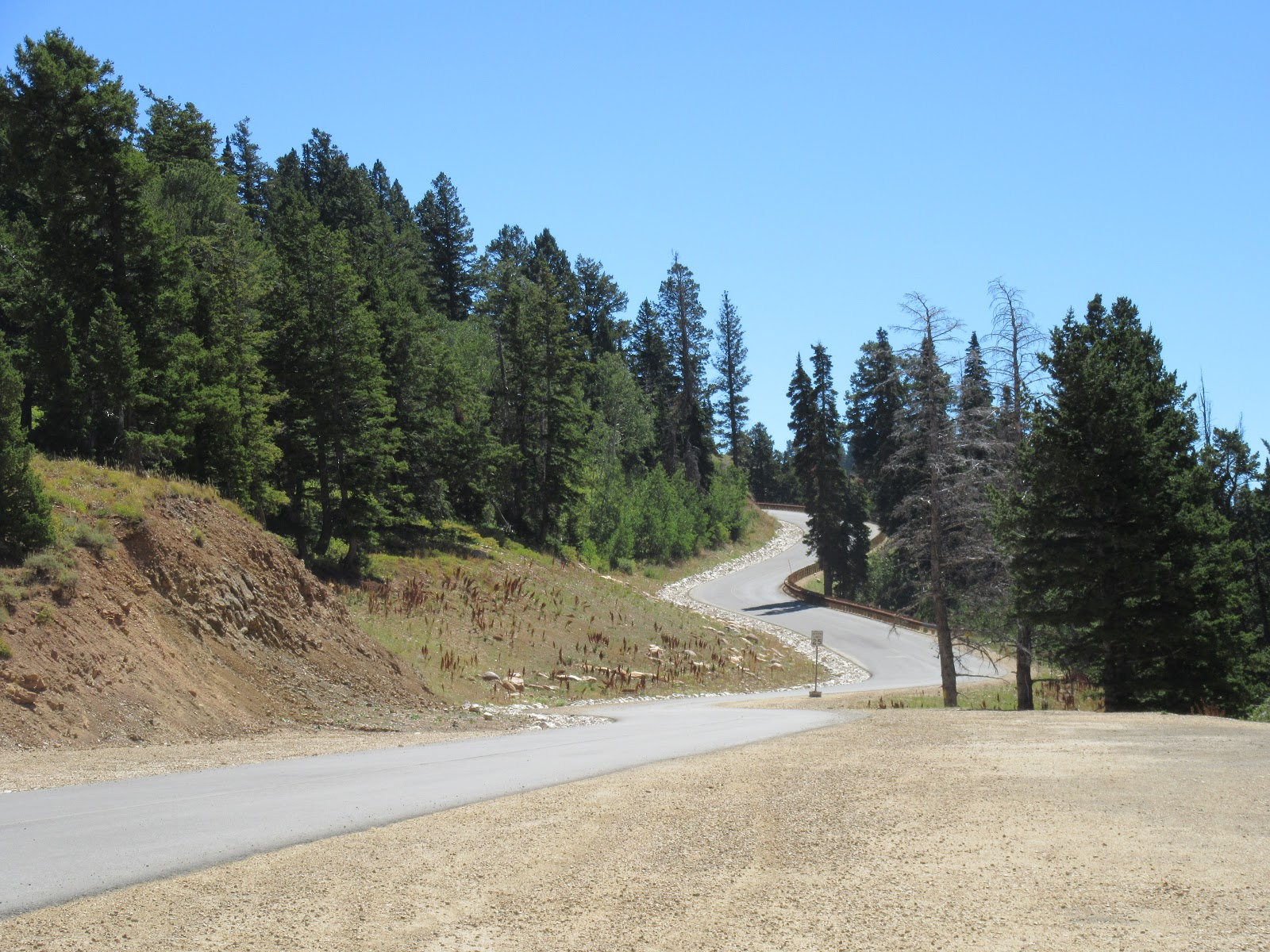 Road to top of Powder Mountain climb by bike