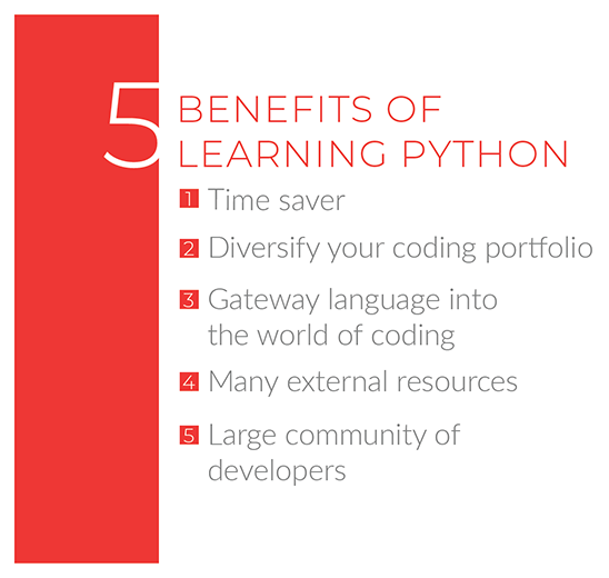 benefits or learning python