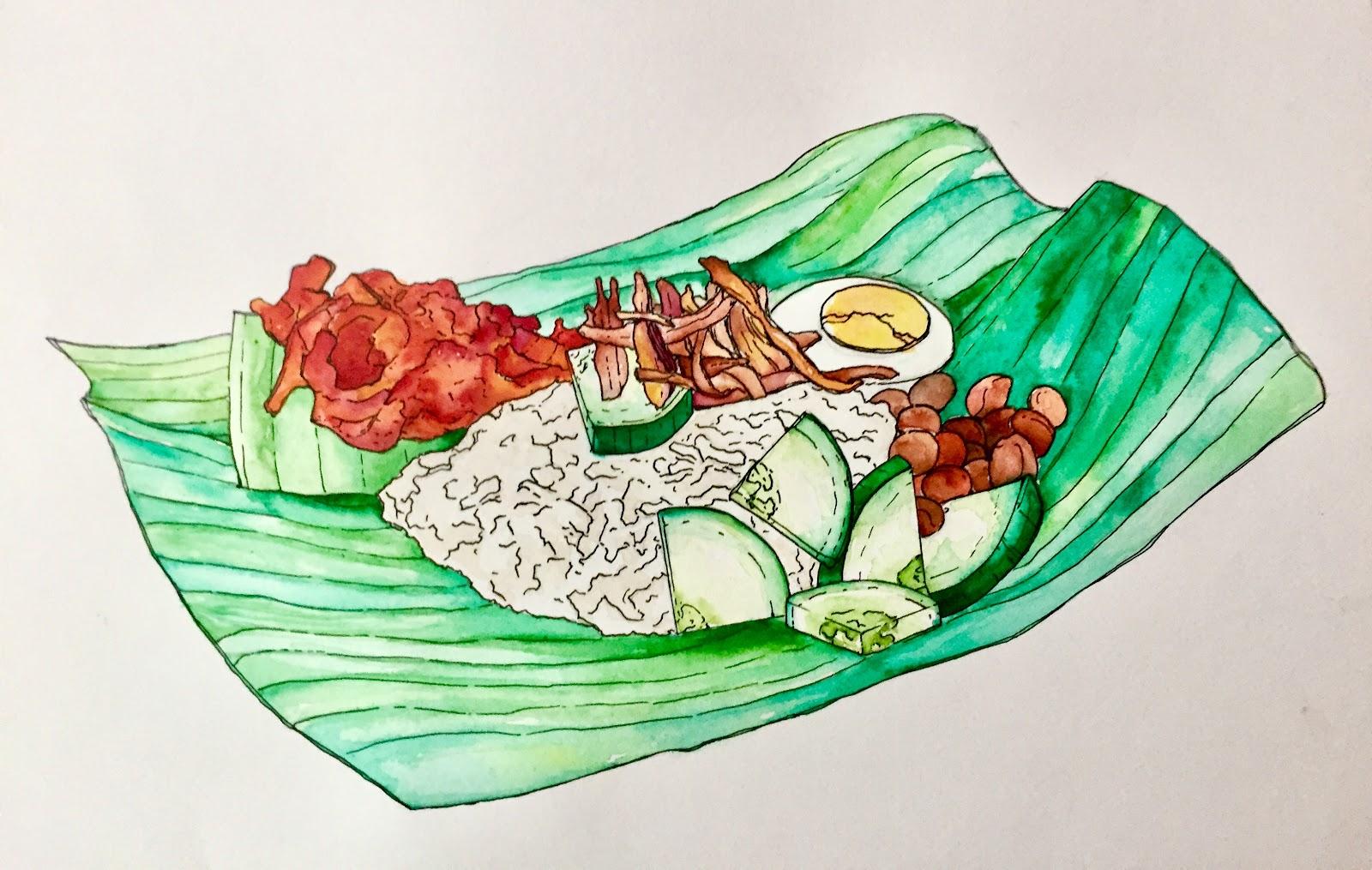 Nasi Lemak drawing