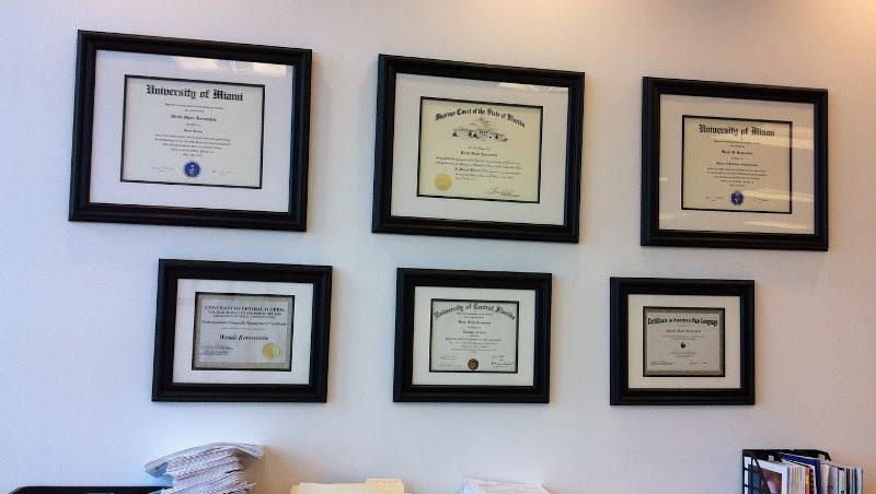 настенная рамка для сертификата