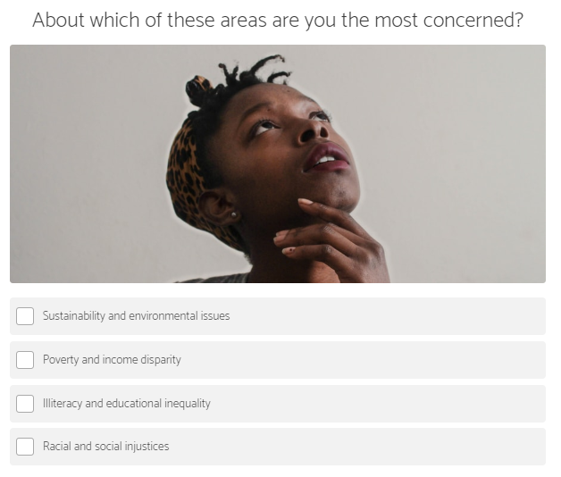 what social issue concerns you the most question